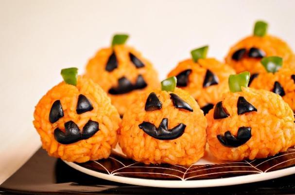 Foodista | Pumpkin Rice Balls are a Healthy Halloween Snack