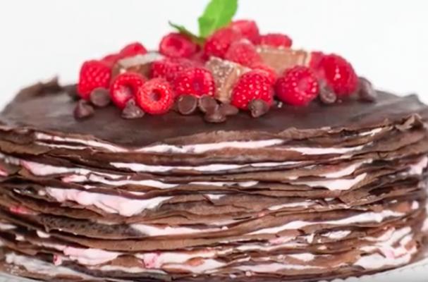 Preparing Chocolate Cake At Home
