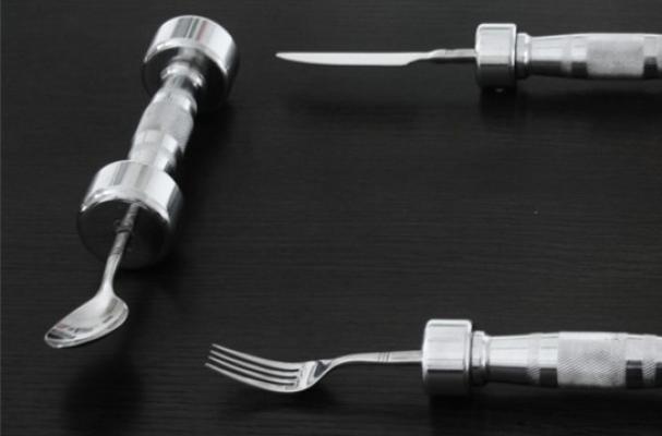 dumbbell cutlery