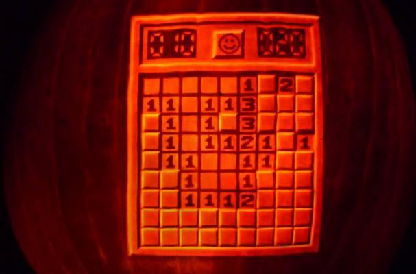 minesweeper pumpkin