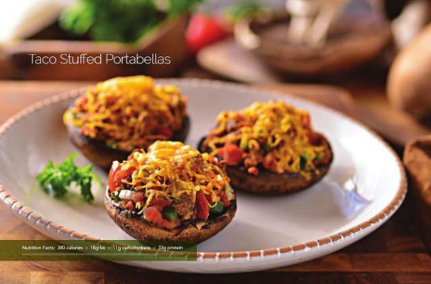 Taco Stuffed Portabello Mushrooms