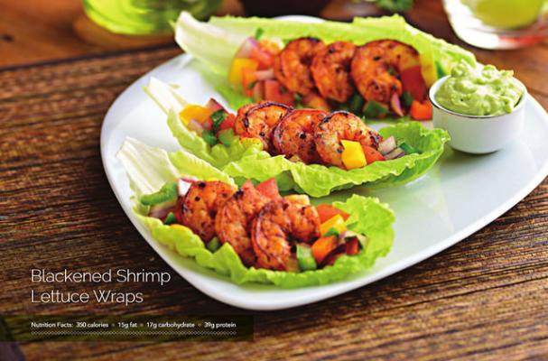 Blackened Shrimp Lettuce Wraps