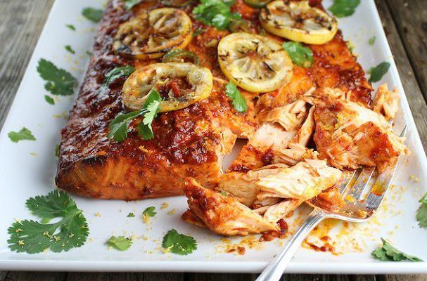 Cedar Planked Harissa Smoked Salmon